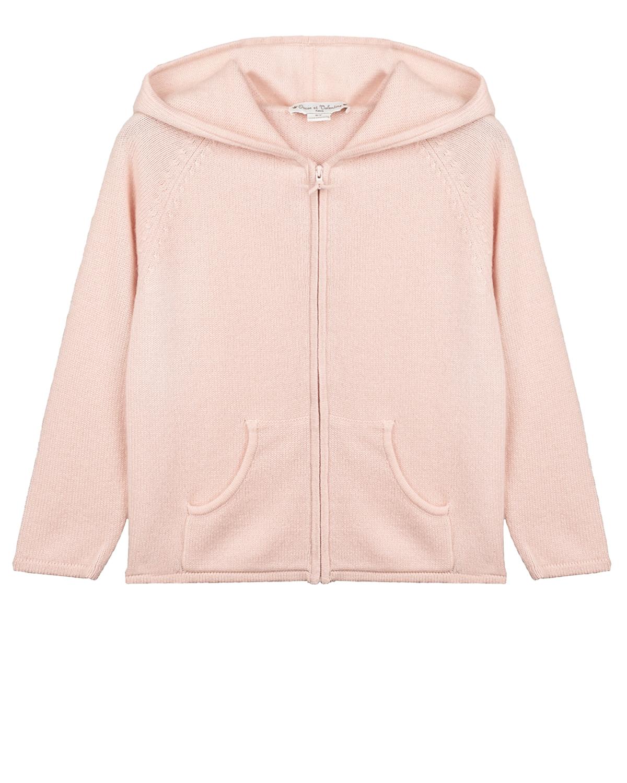 Купить Розовый кашемировый кардиган с капюшоном Oscar et Valentine детский, 100% кашемир