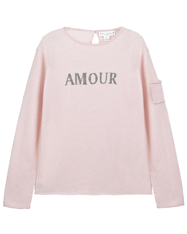 Купить Розовый джемпер из кашемира Oscar et Valentine детский, 100% кашемир
