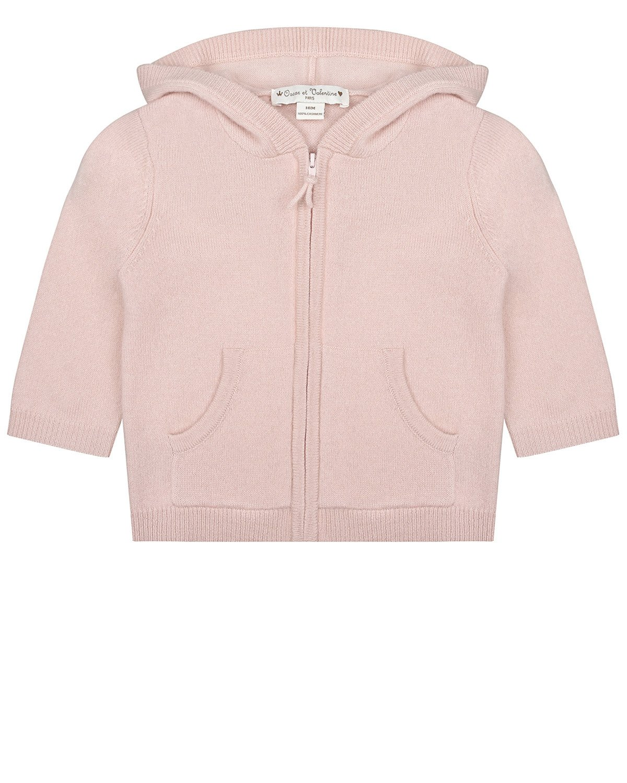 Купить Розовый кардиган из кашемира Oscar et Valentine детский, 100% кашемир