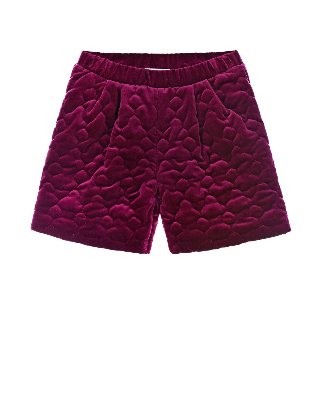 Купить Фиолетовые бархатные шорты Paade Mode детские, Фиолетовый, 100%хлопок, 100%вискоза