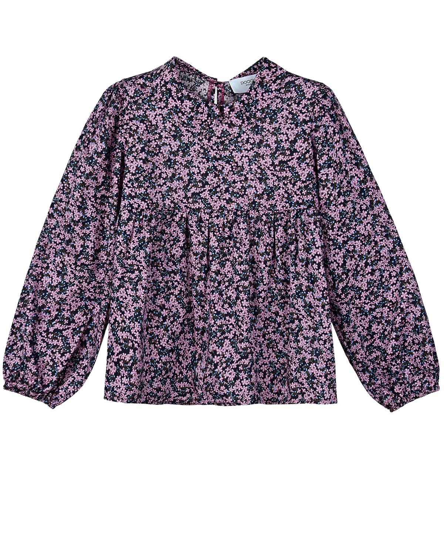 Купить Сиреневая блуза с цветочным принтом Paade Mode детская, Сиреневый, 100%хлопок