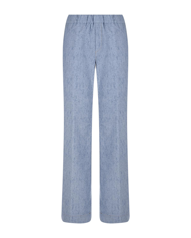 Купить Голубые брюки с эластичным поясом Panicale, Голубой, 98%хлопок+2%эластан