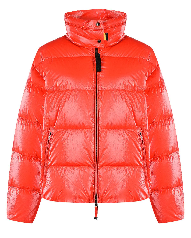 Купить Красная куртка на молнии Parajumpers, Красный, 100% полиамид, 90% пух+10% перо