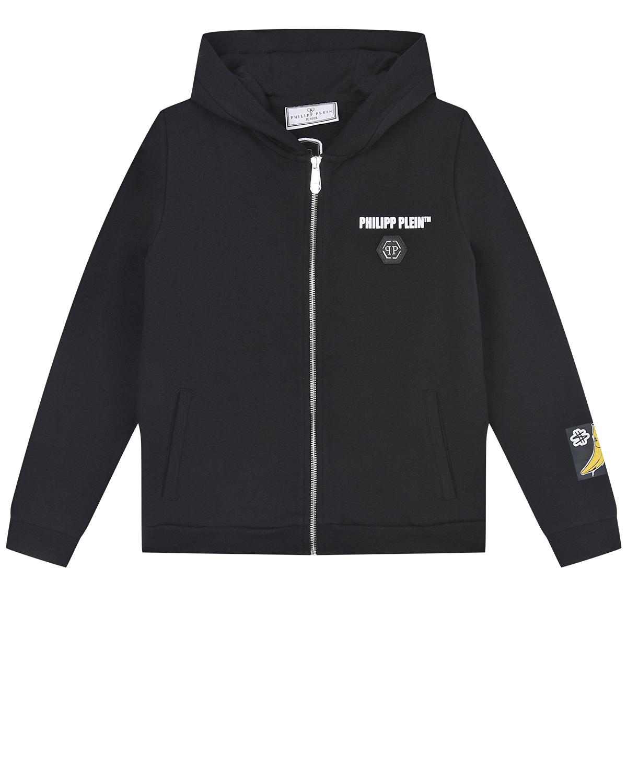 Купить Спортивная куртка с принтом King Plein Philipp Plein детская, Черный, 95%хлопок+5%эластан, 100%полиэстер