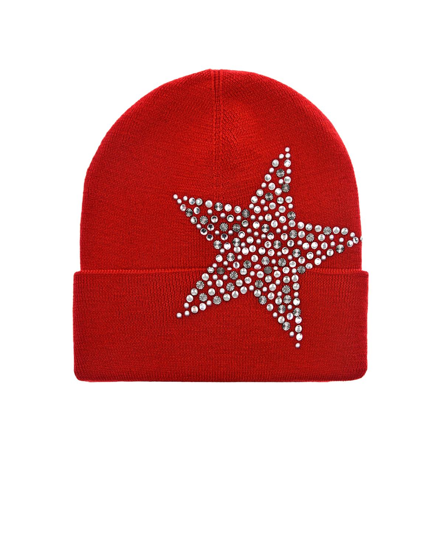 Купить Красная шапка со звездой Regina детская, Красный, 100%шерсть