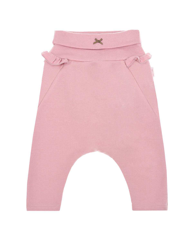 Купить Розовые брюки с рюшами Sanetta fiftyseven детские, Розовый, 95%хлопок+5%эластан