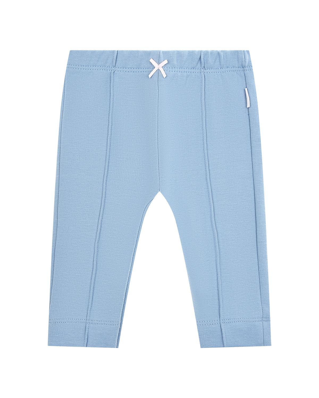 Купить Базовые голубые брюки Sanetta Kidswear детские, Серый, 95%хлопок+5%эластан