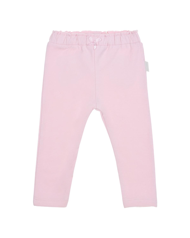 Розовые спортивные брюки Sanetta Kidswear детские, Розовый, 95%хлопок+5%эластан  - купить со скидкой