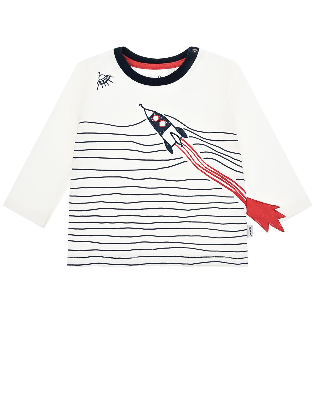 Купить Толстовка с принтом Ракета Sanetta Kidswear детская, Кремовый, 100%хлопок