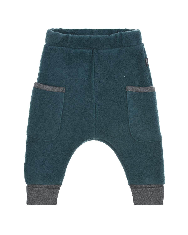 Купить Спортивные брюки из флиса Sanetta Pure детские, Синий, 100%хлопок