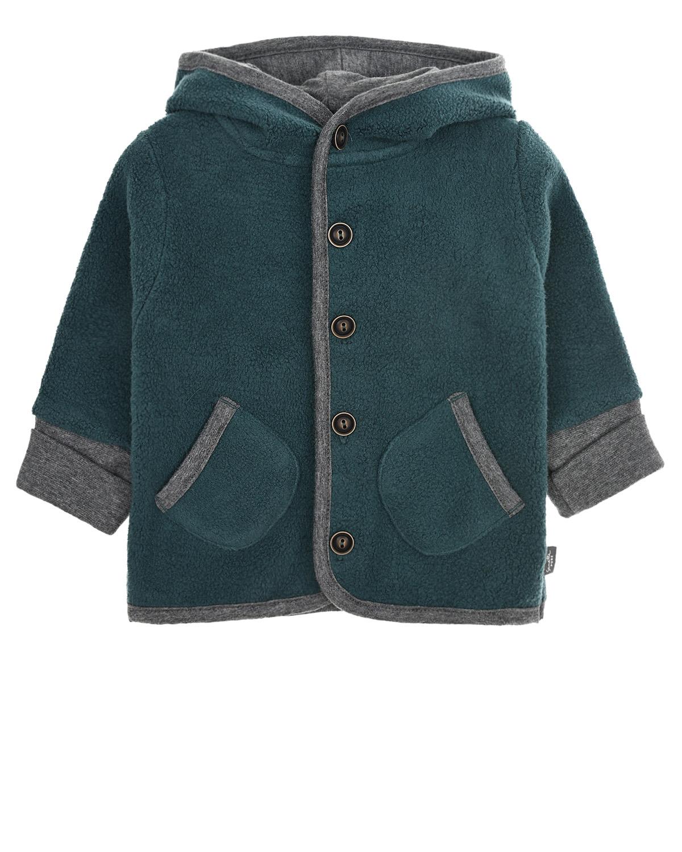 Купить Спортивная куртка из флиса Sanetta Pure детская, Синий, 100%хлопок