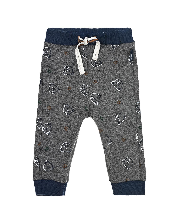 Купить Спортивные брюки с принтом медвежата Sanetta fiftyseven детские, Серый, 95%хлопок+5%эластан