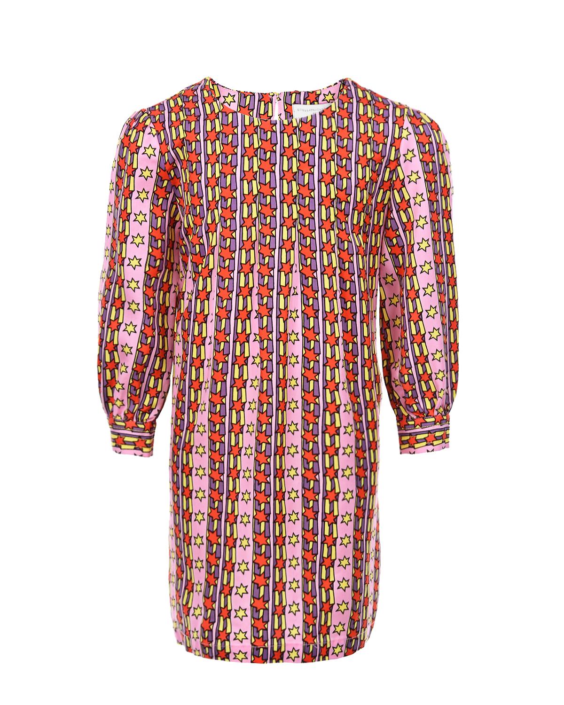 Купить Платье в полоску со звездами Stella McCartney детское, Мультиколор, 100%лиоцелл