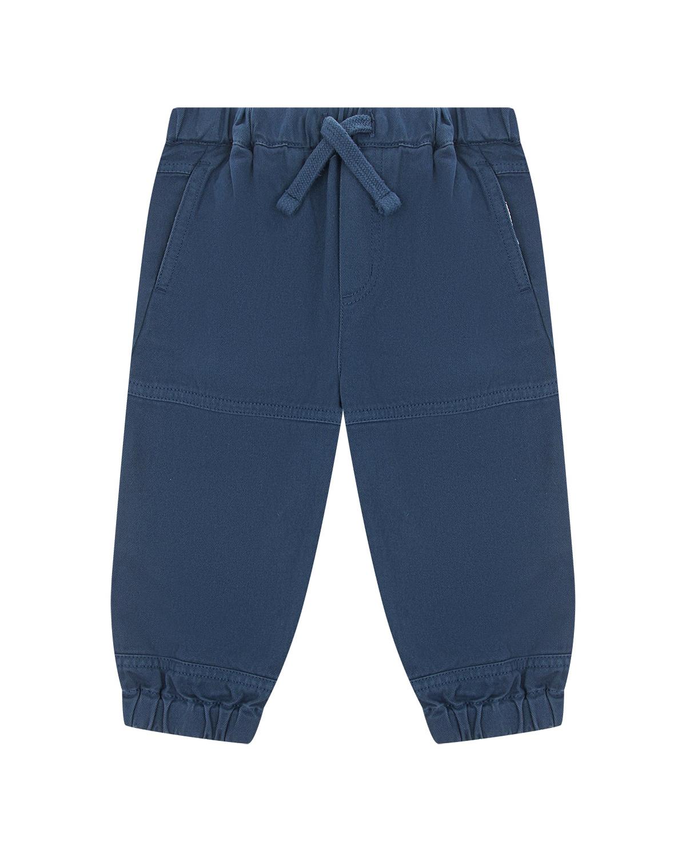 Купить Синие брюки с карманами карго Stella McCartney детские, Синий, 100%хлопок