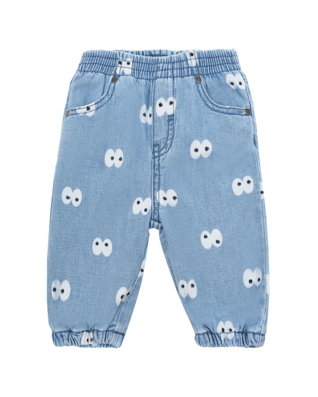 Купить Джинсы с принтом Глаза Stella McCartney детские, Голубой, 100%хлопок, 88%хлопок+12%полиэстер