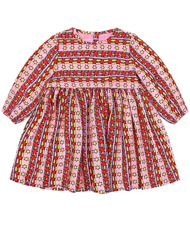 Купить Платье в полоску со звездами Stella McCartney детское, Мультиколор, 100%лиоцелл, 100%вискоза