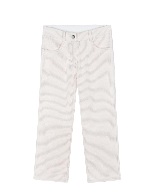 Купить Вельветовые брюки пудрового цвета Stella McCartney детские, Нет цвета, 100%хлопок. 100%хлопок