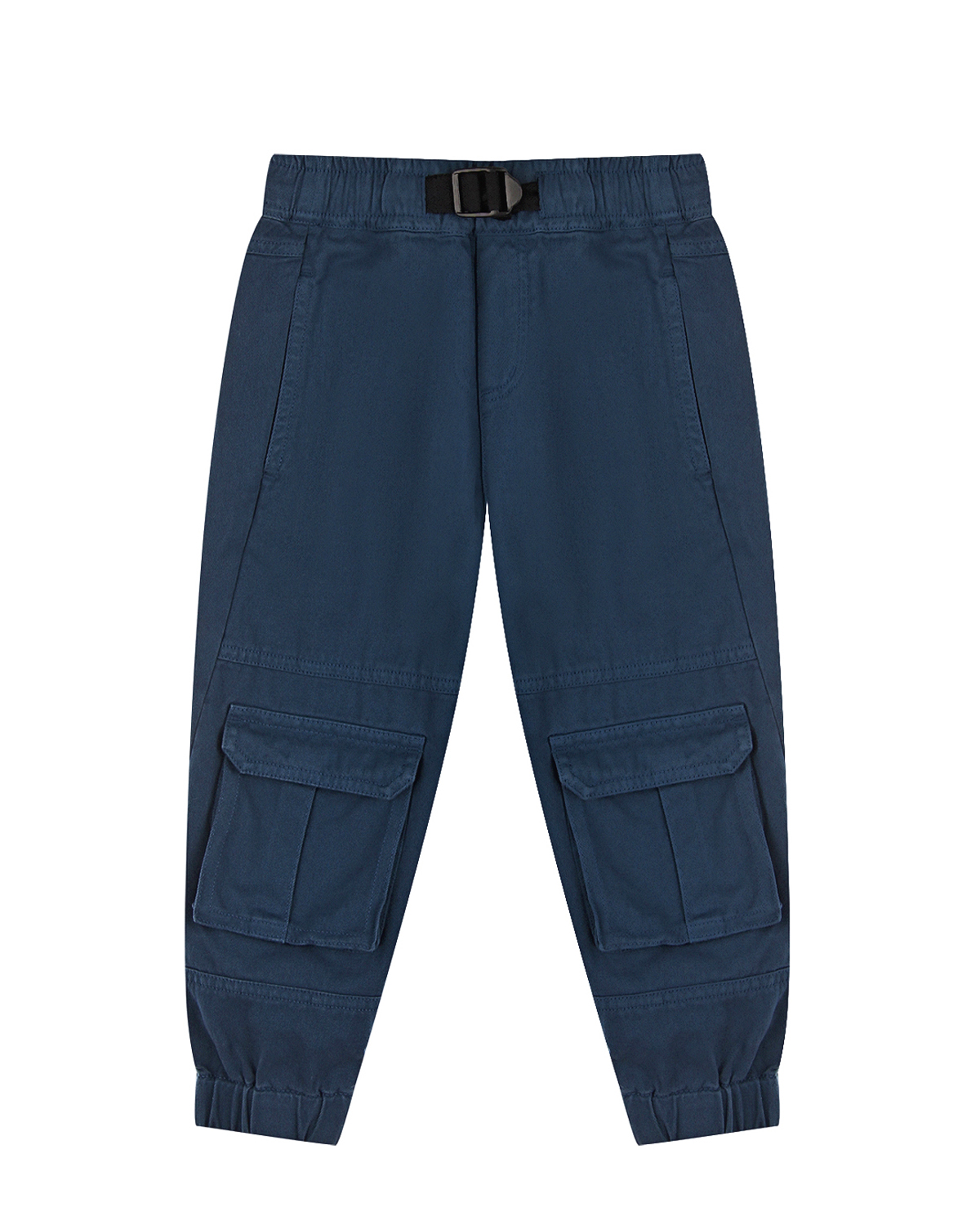 Синие брюки с накладными карманами Stella McCartney детские, Синий, 100%хлопок  - купить со скидкой