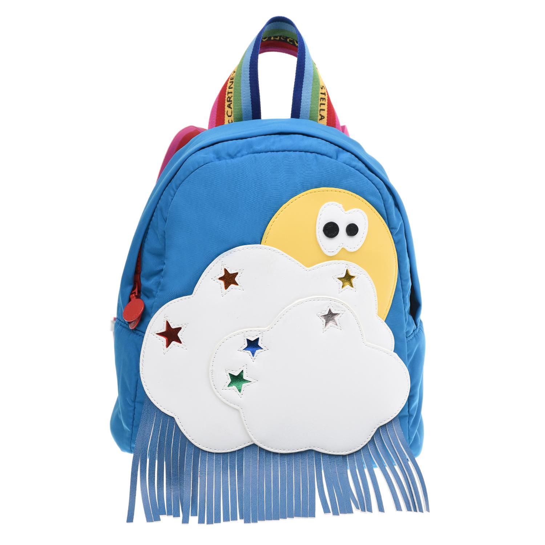 Купить Голубой рюкзак с разноцветными бретелями 20х10х23 см Stella McCartney детский, 100%полиэстер, 100%полиуретан