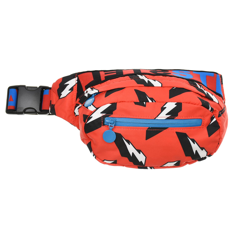 Купить Красная сумка-пояс с принтом молнии , 25x11x5 см Stella McCartney детская, Красный, 100%полиэстер