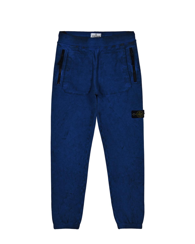 Синие спортивные брюки Stone Island детские.