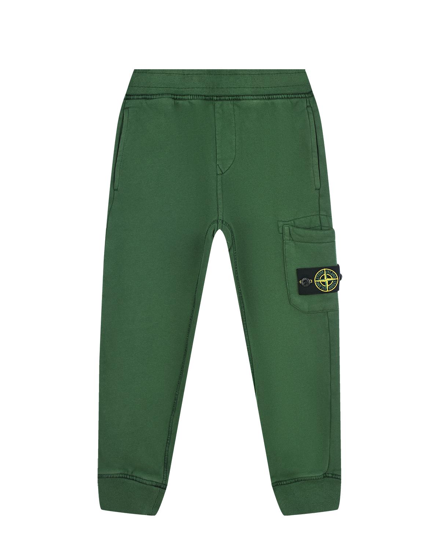 Спортивные брюки с накладным карманом Stone Island детские.