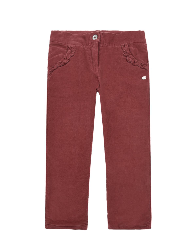 Купить Вельветовые брюки с воланами Tartine et Chocolat детские, Красный, 98%хлопок+2%эластан, 100%хлопок