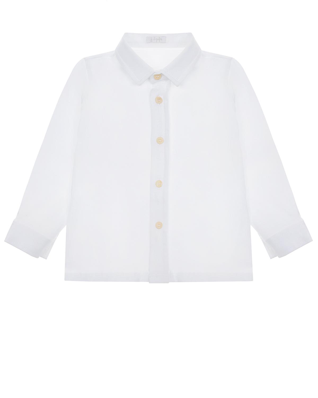 Купить Белая рубашка из хлопка IL Gufo детская, Белый, 100%хлопок