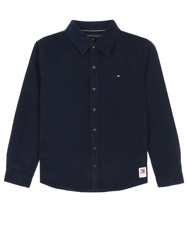Купить Рубашка из вельвета Tommy Hilfiger детская, Синий, 100%хлопок