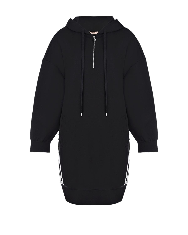 Черное платье-толстовка TWINSET