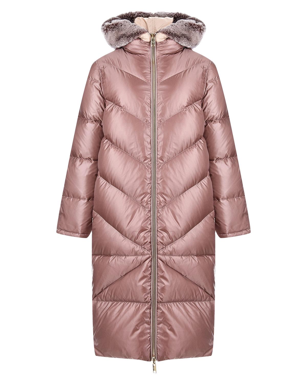 Купить Розовое пуховое пальто Diego M, Розовый, 100%полиэстер, 90%пух+10%перо