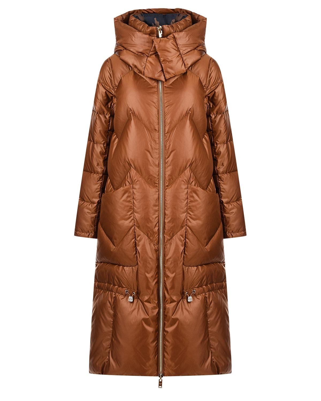 Купить Двустороннее пуховое пальто Diego M, Коричневый, 100%полиэстер, 90%пух+10%перо