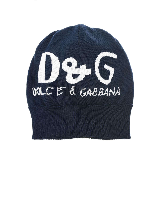 вязаные шапка dolce & gabbana для мальчика