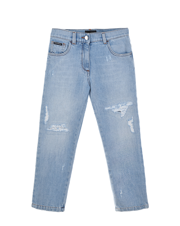 потертые джинсы dolce & gabbana для девочки
