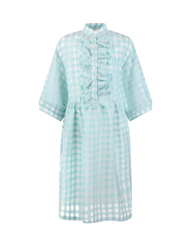 платье в клетку fendi для девочки