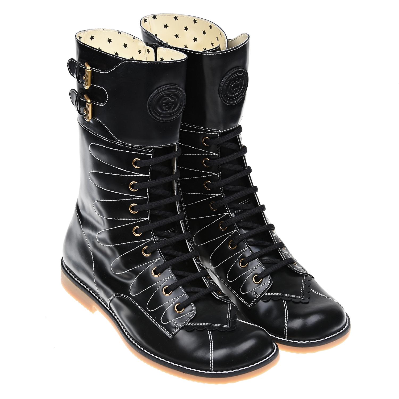 высокие ботинки gucci для девочки