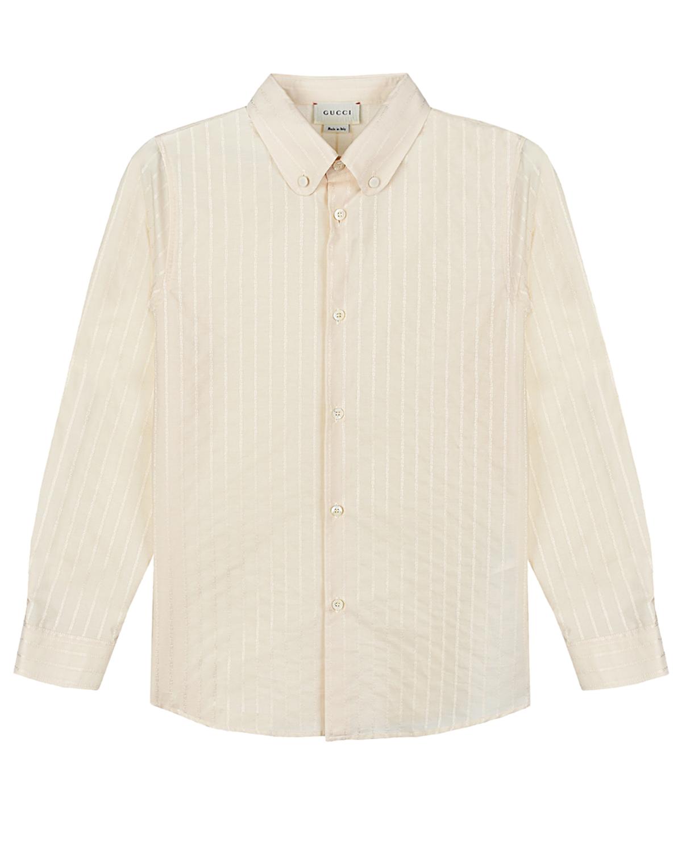 рубашка в полоску gucci для мальчика