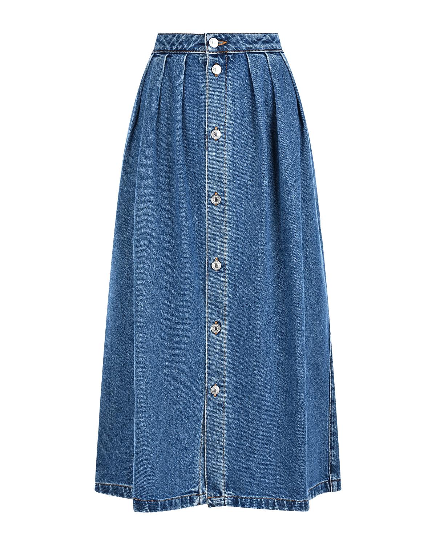 женская джинсовые юбка msgm