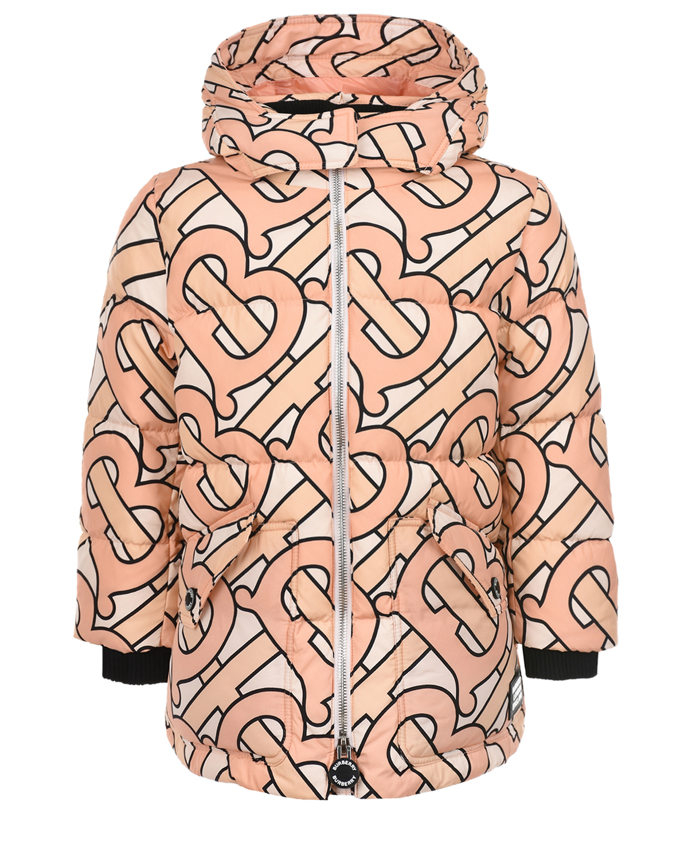 Купить Куртка со сплошным логотипом Burberry детская, Мультиколор, 100%полиамид, 100%полиэстер, 50%акрил+40%хлопок+9%полиамид+1%эластан, 90%пух+10%перо