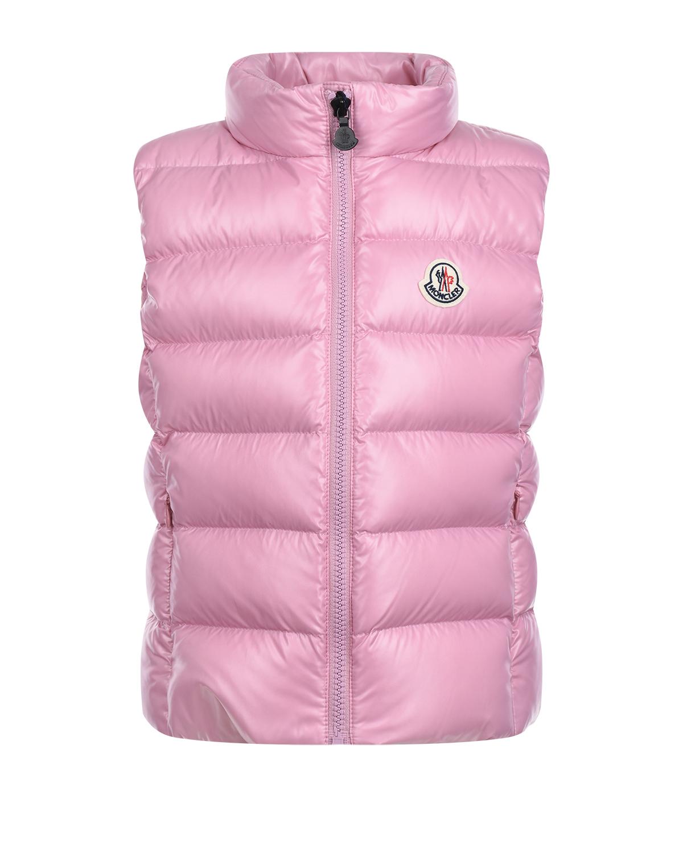 Купить Розовый стеганый жилет Moncler детский, 100%полиамид, 90%пух+10%перо