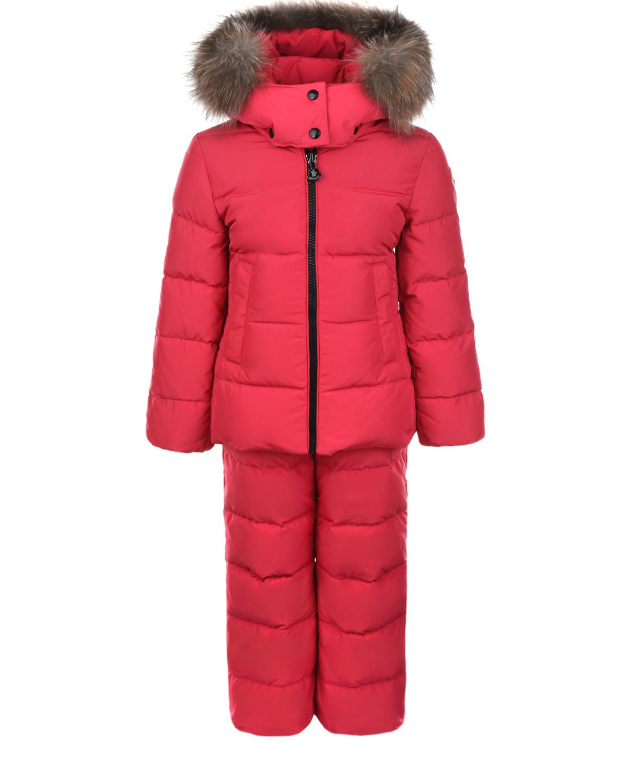 Зимний комплект цвета фуксии Moncler детский