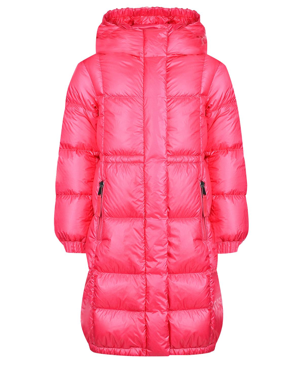 Купить Пальто-пуховик oversize Moncler детское, Розовый, 100%полиамид, 90%пух+10%перо