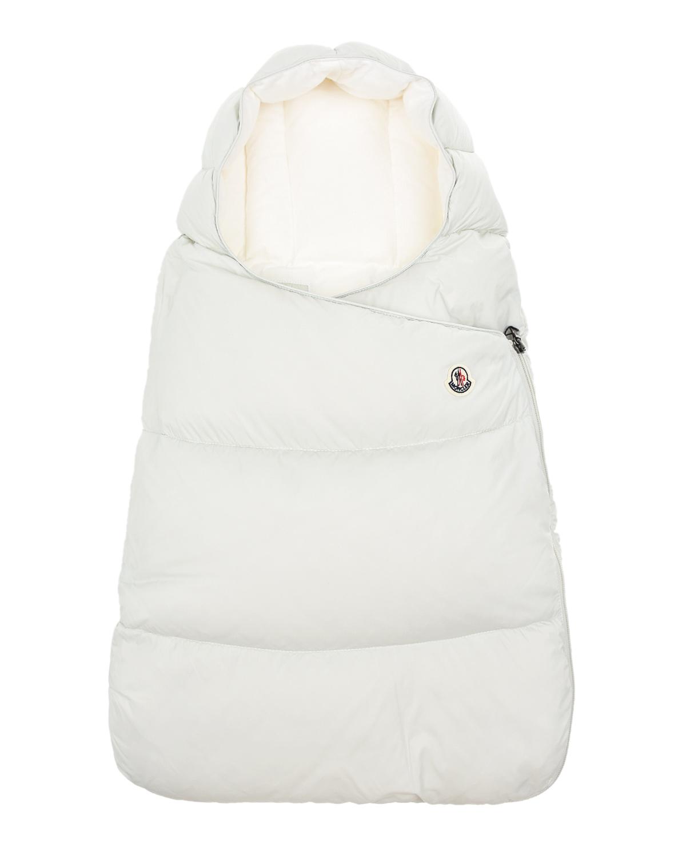 Купить Светло-серый конверт-пуховик Moncler детское, Серый, 100%полиамид, 100%хлопок, 90%пух+10%перо