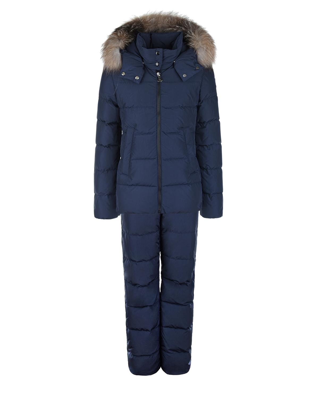 Купить Темно-синий зимний комплект для мальчиков Moncler детское, Синий, 100%полиэстер, 100%полиамид, 90%пух+10%перо