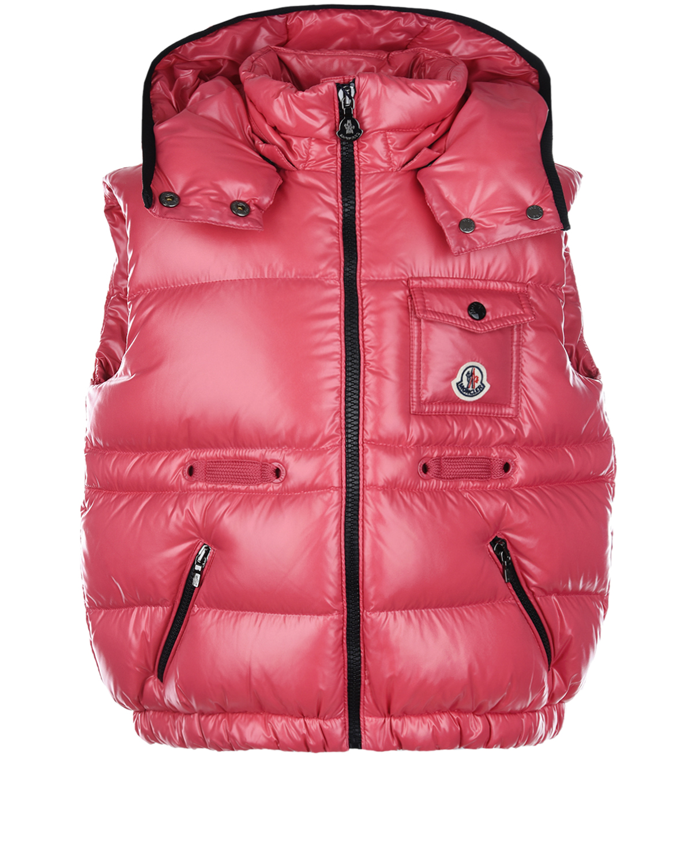 Купить Розовый пуховый жилет Moncler детский, 100%полиамид, 90%пух+10%перо