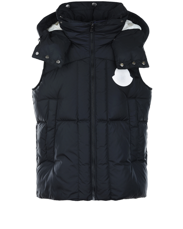 Купить Черный пуховый жилет для мальчиков Moncler детский, 100%полиамид, 90%пух+10%перо