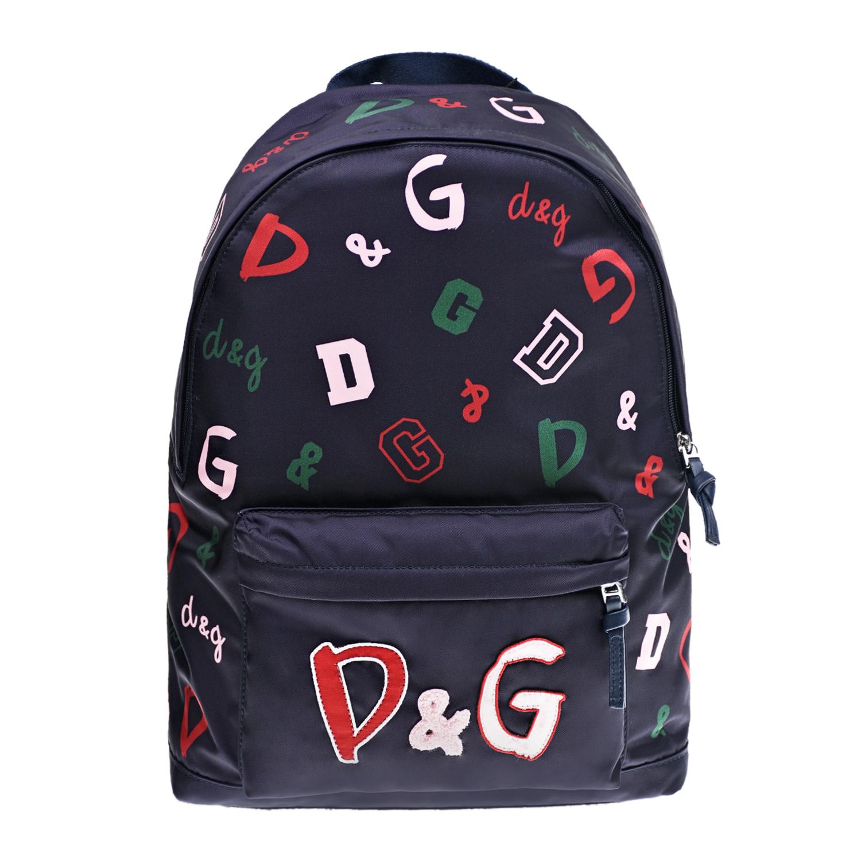 Купить Синий рюкзак с логотипом, 38x30x15 см Dolce&Gabbana детский, 4%хлопок+80%полиамид+1%полиэстер+15%полиуретан, 100%полиэстер