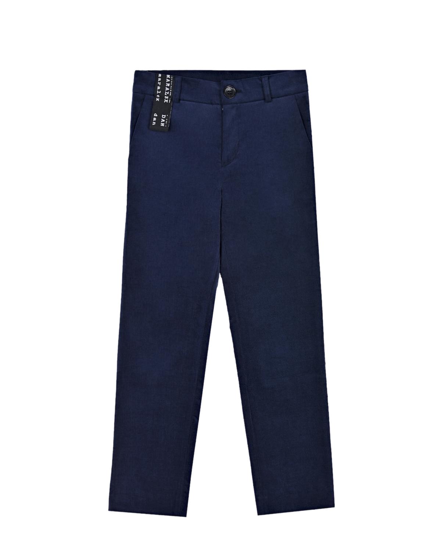 Купить Синие брюки прямого кроя Dan Maralex детские, Синий, 97% хлопок+3% спандекс, 52%вискоза+48%полиэстер