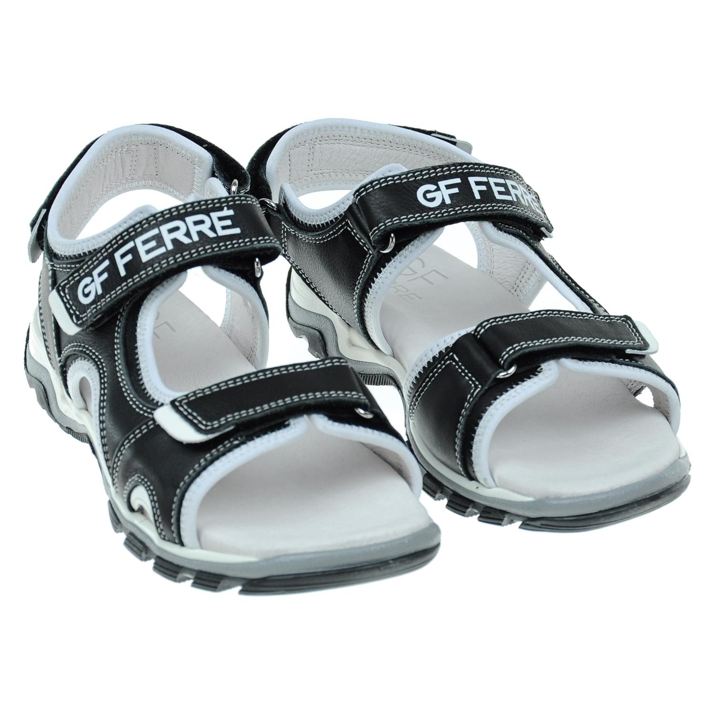 Кожаные сандалии с контрастной отделкойСандалии<br><br>